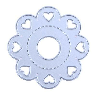 Slide Heart Metal Cutting Dies DIY Stencils Scrapbook Embossing Album Card Craft