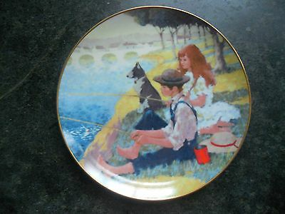 Wonders Of Childhood Plate Collection, August Fishing, The Collectors Studio