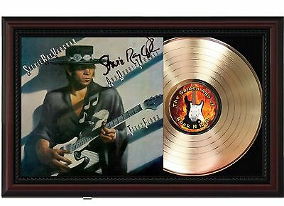 "Stevie Ray Vaughan - Texas Flood Cherrywood Reproduction Signature Display. ""M4"""