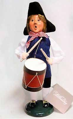 Byers Choice Patriotic Williamsburg Drummer Boy  - New 2017