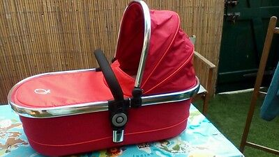 Icandy peach carrycot Tomato red with extras