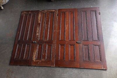 Set 4 Antique Oak Cabinet Pantry Door Kitchen Vintage Chic Old 57x20 154-17P