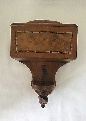 Antique 1800's Wood Sewing Clamp Pincushion-Sewing Crafts.              *2807