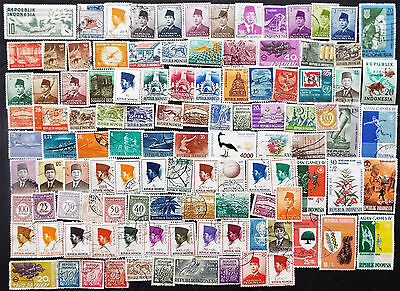 Starter Collection Of Used Indonesia Stamps