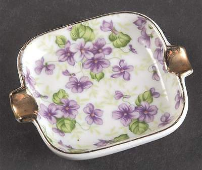 Lefton VIOLET CHINTZ Ashtray 316518