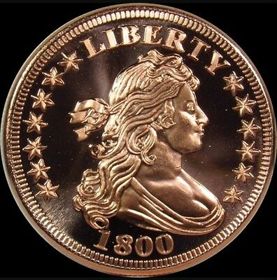 ✯Bust Dime✯Bu✯1 Oz✯.999 Copper Round✯Old U.s. Usa Coin Design✯Free Shipping✯