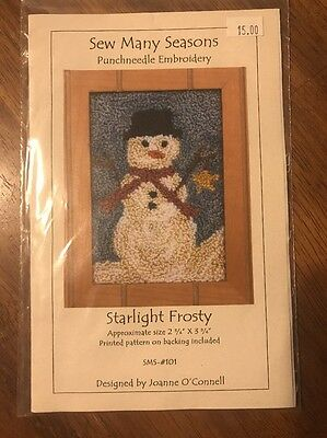 Sew Many Seasons, # SMS-101, Starlight Frosty Punchneedle Embroidery - New