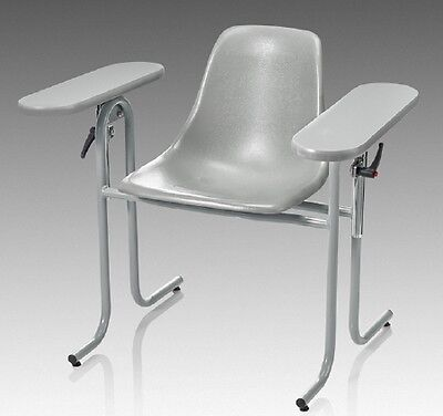 McKesson Blood Drawing Chair Double Fixed Armrests Gray - 1 Count *SHIPS FREE*