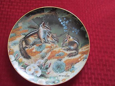 Danbury Mint Chipmunks At Lunch Collector's Plate  Woodland Creatures Collection