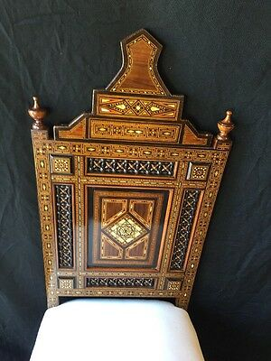 A Pair Of Syrian Mother-Of-Pearl And Marquetery Inlaid Pair Of Chairs