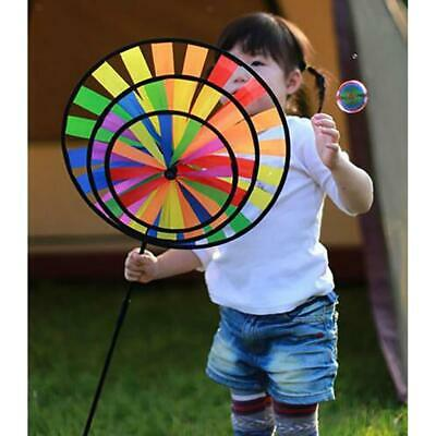 100cm Rainbow Windmill Wind Rotator Whirligig Wheel Lawn Yard Decor Kids Toy