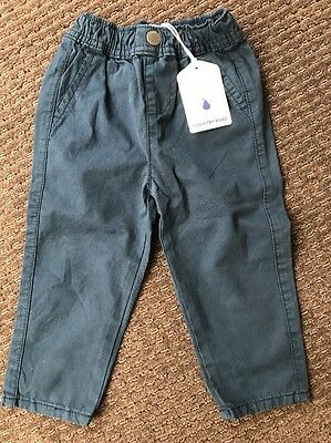 Country Road Baby Boy Navy Blue Pants Chinos Size 2, 18-24 Months BNWT New