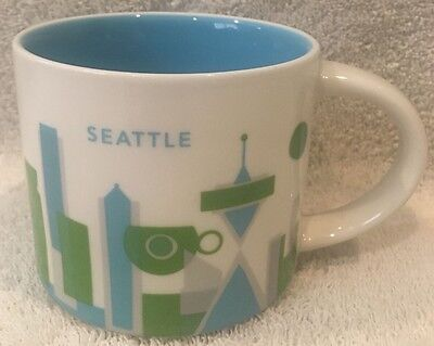 """2014 Starbucks Seattle """"You Are Here"""" Collection Series 14 oz Coffee Mug Cup"""