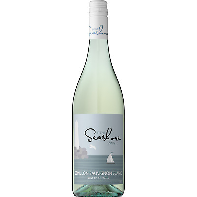 RRP $189!By The Seashore Semilon Sauv Blanc White Wine (12x750ml) Free Shipping