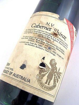 1980/1981/1982 NV BAROSSA WINEMAKERS Flood Relief Red Isle of Wine