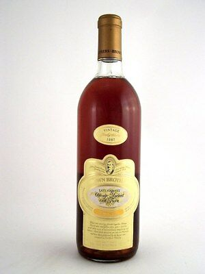 1987 BROWN BROTHERS Orange Muscat & Flora Muscat Blanc Isle of Wine