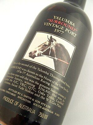 1977 YALUMBA SURROUND Vintage Port R FREE SHIP Isleofwine