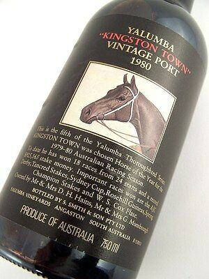 1980 YALUMBA KINGSTON TOWN Vintage Port EE FREE SHIP Isleofwine