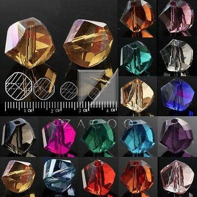 72pcs/100pc Crystal Beads Helix Loose Faceted Fit Necklace Bracelet 4/6/8/10mm