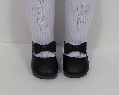 """Debs CREAM Bow-Tie Doll Shoes For 14/"""" American Girl Wellie Wisher Wishers"""