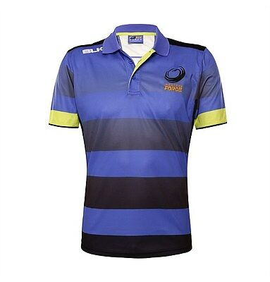 Western Force BLK Super Rugby Players Training Polo Shirt Size S-3XL! 6