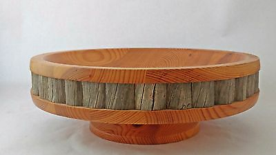 Finland Mid Century Modern MCM Wood Bowl Centerpiece Arctic CIrcle Tuomaan Paja