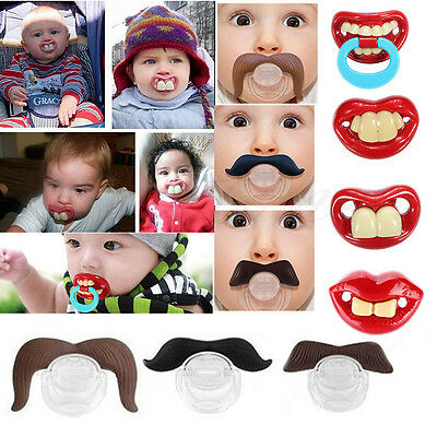 Baby Funny Teeth Mustache Silicone Pacifier Girls Toddler Pacifier Mustache SH