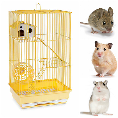 Hamster Gerbil Mouse Pet Cage 3 Level Pig Rat Home Small Animal Rabbit Pet House