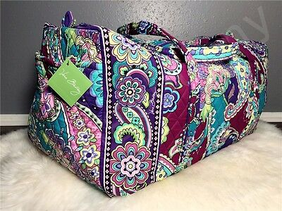 New Vera Bradley Large Duffel tote bag in Heather NWT Travel Gym