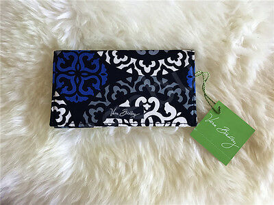 New Vera Bradley checkbook cover case in Canterberry Colbalt NWT