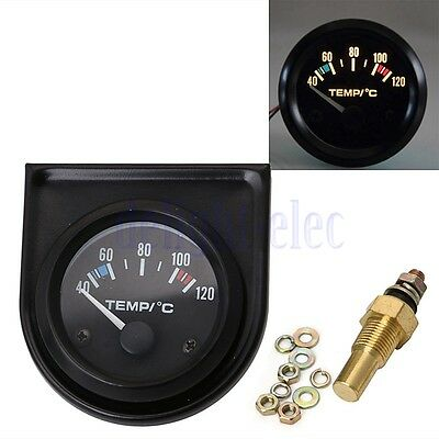 "2"" 52mm Universale Auto Acqua Temp Manometro Temperatura Gauge Nero DB"