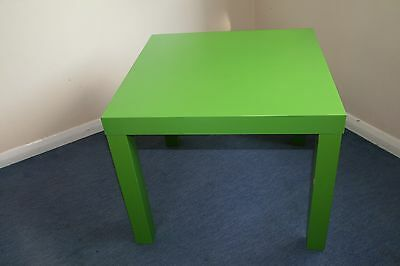 Ikea lack side coffee table in green picclick uk for Ikea green side table