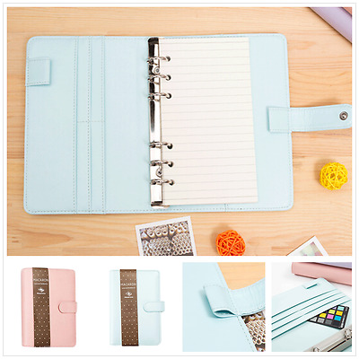 Business PU Leather Hand Book Notebook Diary Binder Cover A5/A6 Loose Leaf Shell