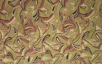 Vintage Antique Fabric Remnants Chartreuse Mauve Plum Material Quilting Sewing