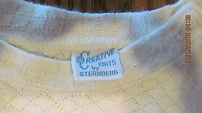 Vintage CREATIVE KNITS BY STERNBERG Baby Boy white cream outfit clothes