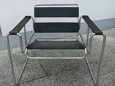 vintage marcel breuer wassily chair sessel schwarz eur 140 00 picclick de. Black Bedroom Furniture Sets. Home Design Ideas