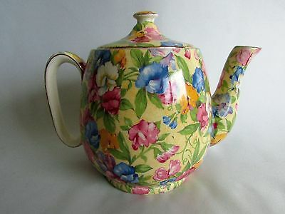 Grimwades Sweet Pea Royal Winton Chintz Coffee Tea Pot Made in England 2 cup