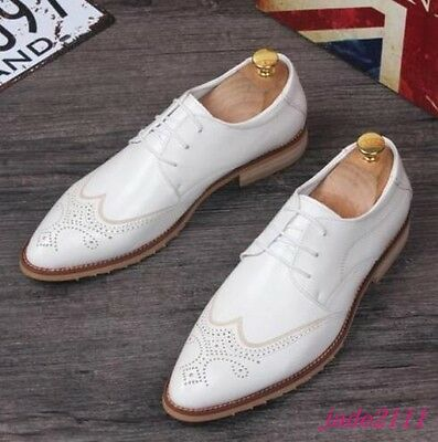 Stacy Adams Men/'s Forte Cap Toe Oxford White Leather Dress Shoes 25180-100
