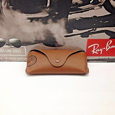 NEW Ray Ban Genuine Brown Sunglasses Eyeglasses Case  FAST SHIPPING!!!
