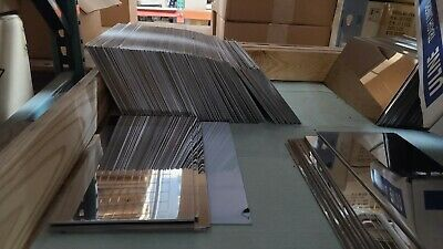 "Stainless Steel 304 SS Sheet Plate #8 Mirror Finish 6"" x 12"" 16ga .065 16 Gauge"