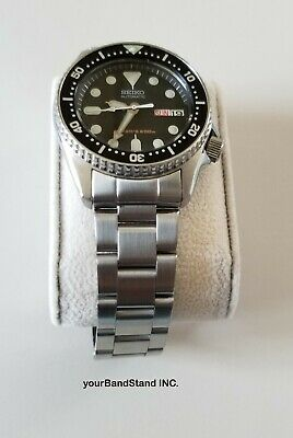 20mm CURVED STAINLESS STEEL OYSTER BRACELET FIT Seiko 7s26-0030 SKX013 SKX015