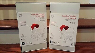 Bugaboo Donkey Stroller Sun Canopy in Red and FREE Shipping