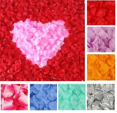 100/500/2000pcs Silk Rose Flower Petals Engagement Wedding Decoration Confetti