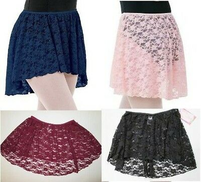 NEW Girl's SC IC MC LC Child Lace Skirts for Leotard Dance Ballet 4 Colors Black
