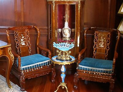 Magnificent Chinese Rosewood With Find Details. Includes Couch/Chairs/End Tables