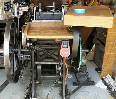 Chandler & Price 8X12 Letterpress ~ Expertly Restored w/ Motor & Accessories