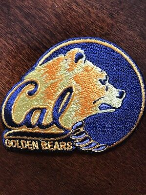 """California CAL Golden Bears Vintage Embroidered Iron On Patch (LOGO) 2.75 X 2.1"""""""