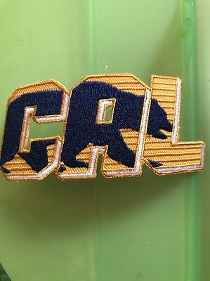 """California CAL Golden Bears Vintage Embroidered Iron On Patch (LOGO) 4"""" X 1.5"""""""