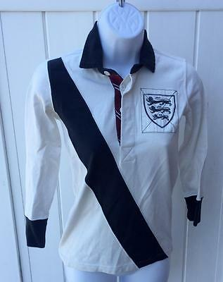 Ralph Lauren Womens Rugby shirt off white black xs $78 nwt  lion patch
