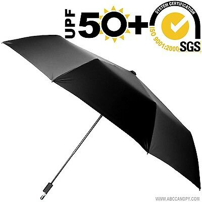Sun Umbrella Folding Travel SunScreen Blocking UV Ray Protection Metal Shaft NEW